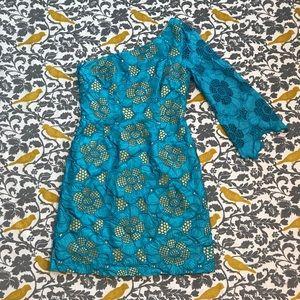 Lilly Pulitzer Turquoise Teresa Dress VGUC Size 4